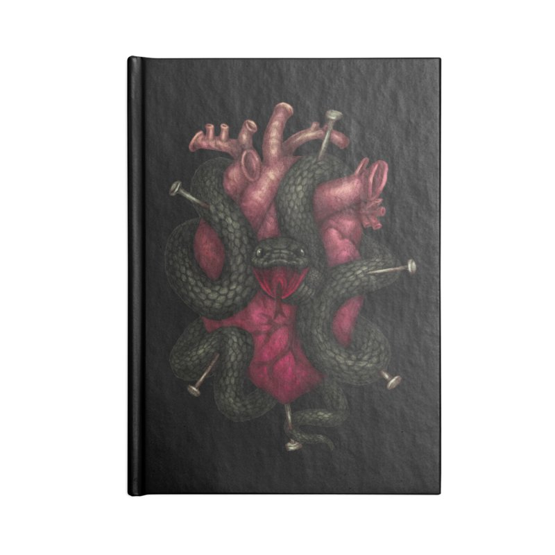 Black Heart Accessories Notebook by villainmazk's Artist Shop