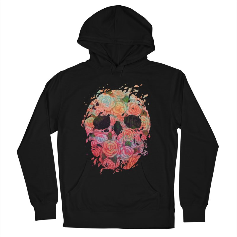 Skull Roses Women's Pullover Hoody by villainmazk's Artist Shop