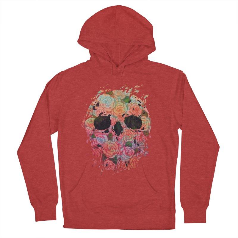 Skull Roses Men's Pullover Hoody by villainmazk's Artist Shop