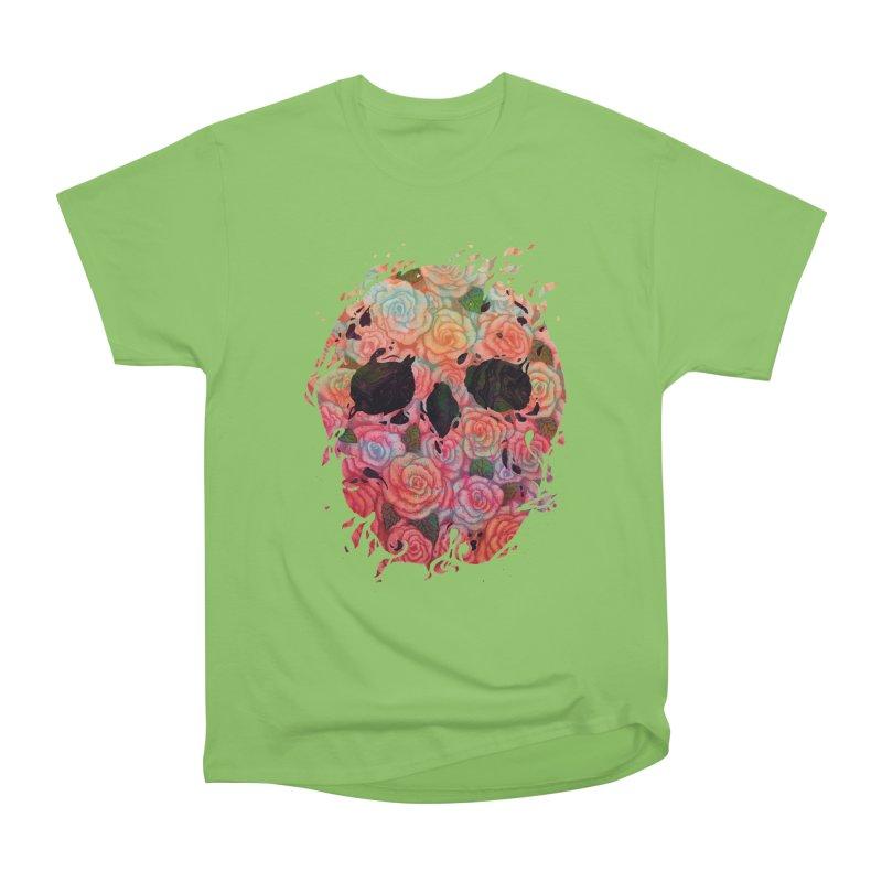 Skull Roses Women's Heavyweight Unisex T-Shirt by villainmazk's Artist Shop