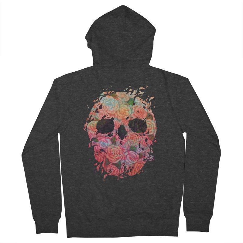 Skull Roses Women's Zip-Up Hoody by villainmazk's Artist Shop