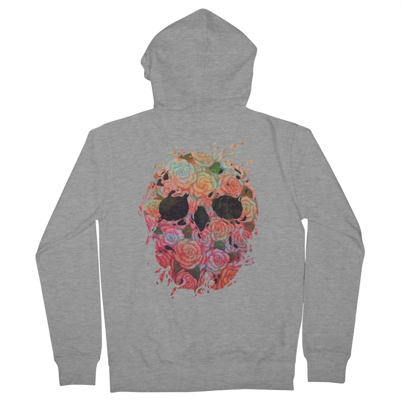 Skull Roses Men's Zip-Up Hoody by villainmazk's Artist Shop