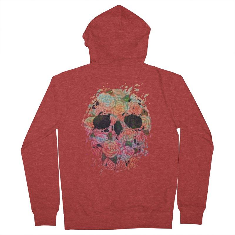 Skull Roses Men's Zip-Up Hoody by villainmazk's Artist Shop