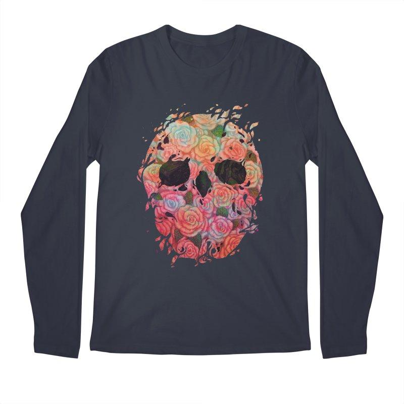Skull Roses Men's Longsleeve T-Shirt by villainmazk's Artist Shop