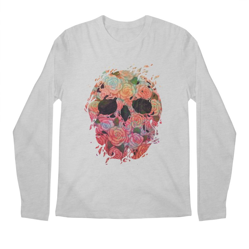 Skull Roses Men's Longsleeve T-Shirt by villainmazk's Artist Shop