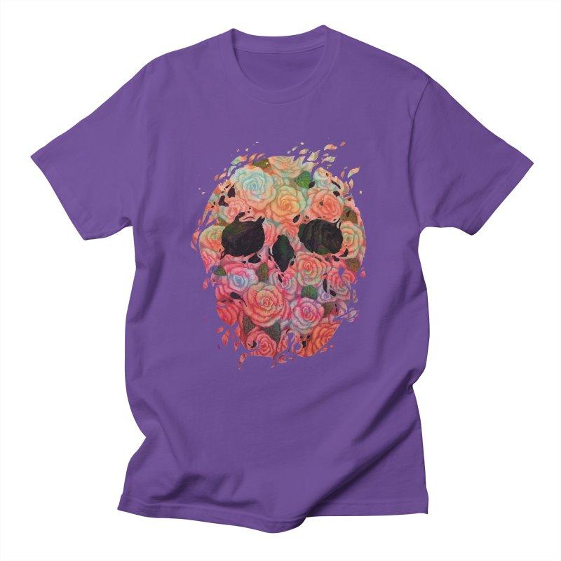 Skull Roses Women's Unisex T-Shirt by villainmazk's Artist Shop