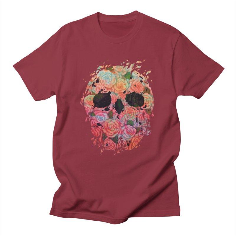 Skull Roses Men's Regular T-Shirt by villainmazk's Artist Shop