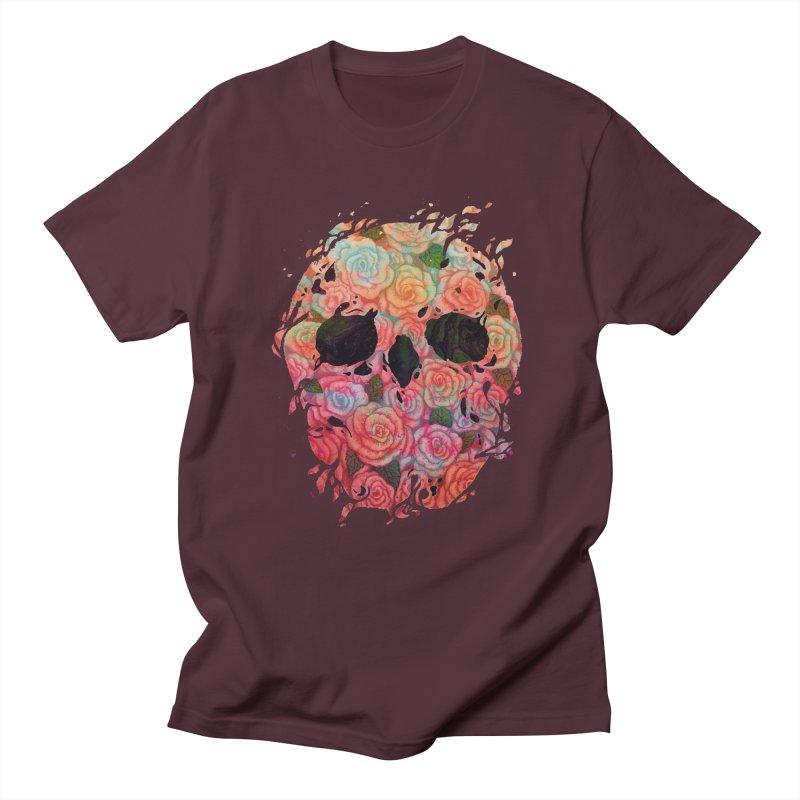 Skull Roses Men's T-Shirt by villainmazk's Artist Shop