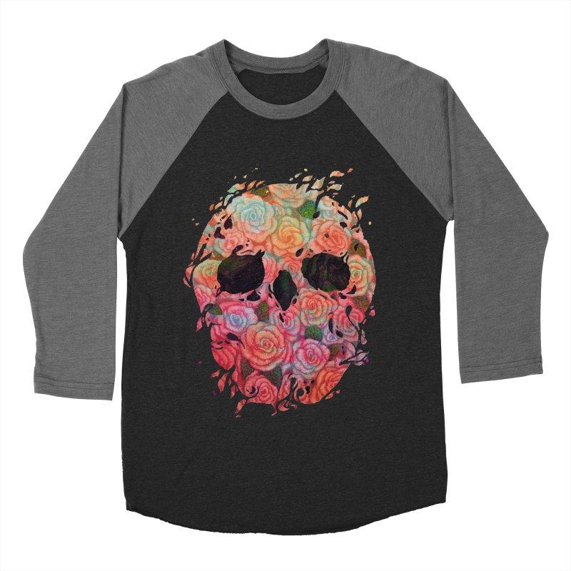 Skull Roses Women's Baseball Triblend T-Shirt by villainmazk's Artist Shop
