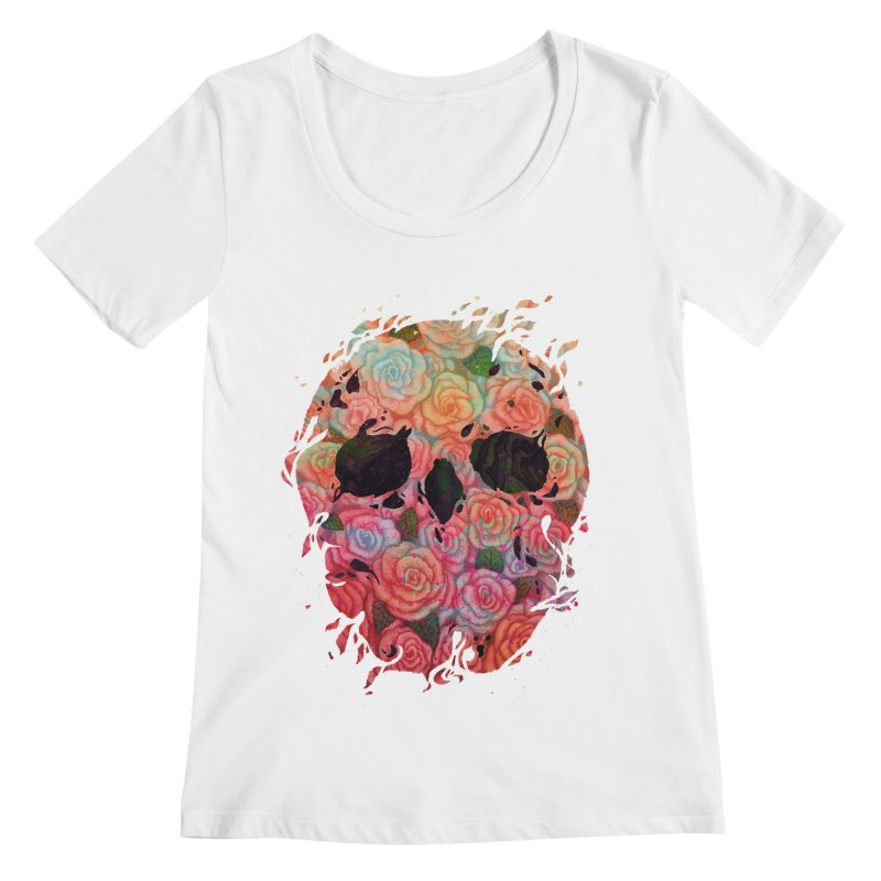Skull Roses Women's Scoopneck by villainmazk's Artist Shop
