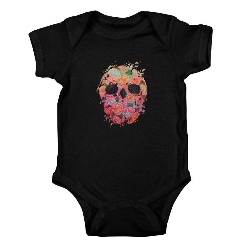 Skull Roses Kids Baby Bodysuit by villainmazk's Artist Shop