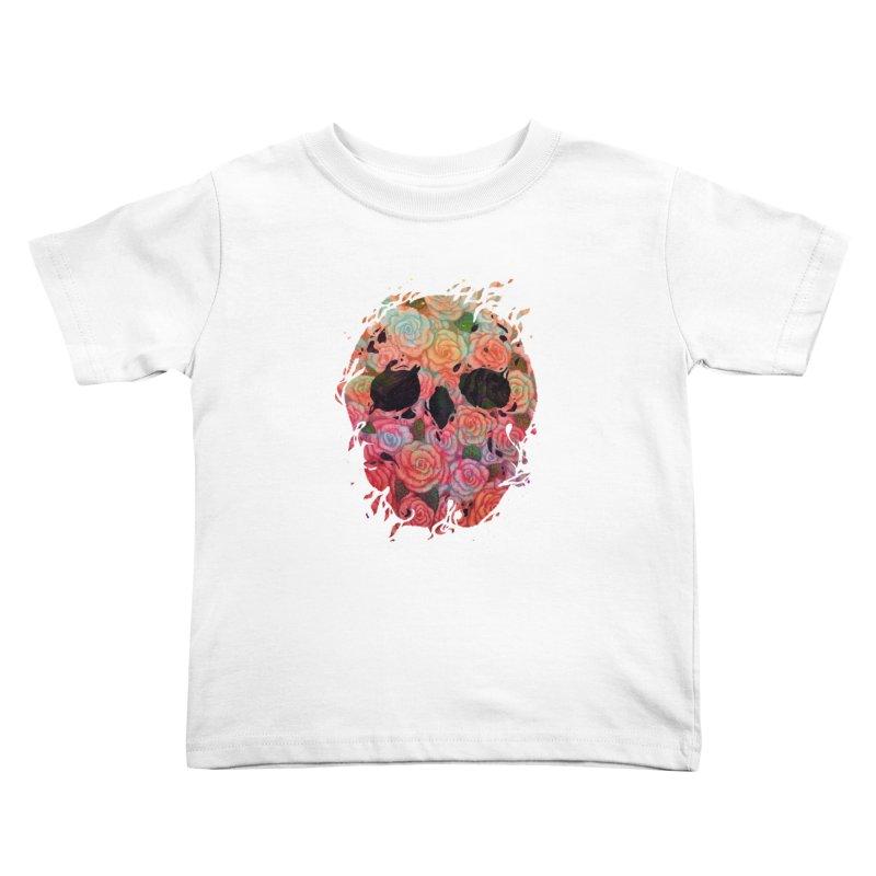 Skull Roses Kids Toddler T-Shirt by villainmazk's Artist Shop