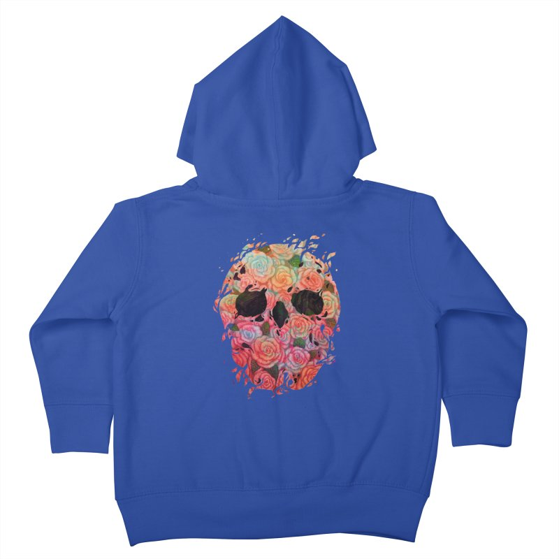 Skull Roses Kids Toddler Zip-Up Hoody by villainmazk's Artist Shop