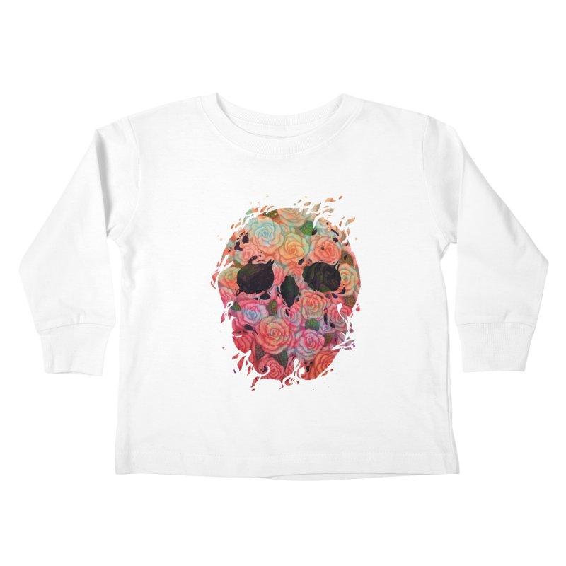 Skull Roses Kids Toddler Longsleeve T-Shirt by villainmazk's Artist Shop