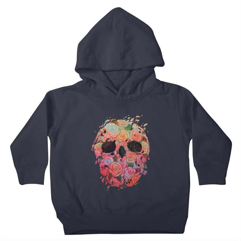 Skull Roses Kids Toddler Pullover Hoody by villainmazk's Artist Shop