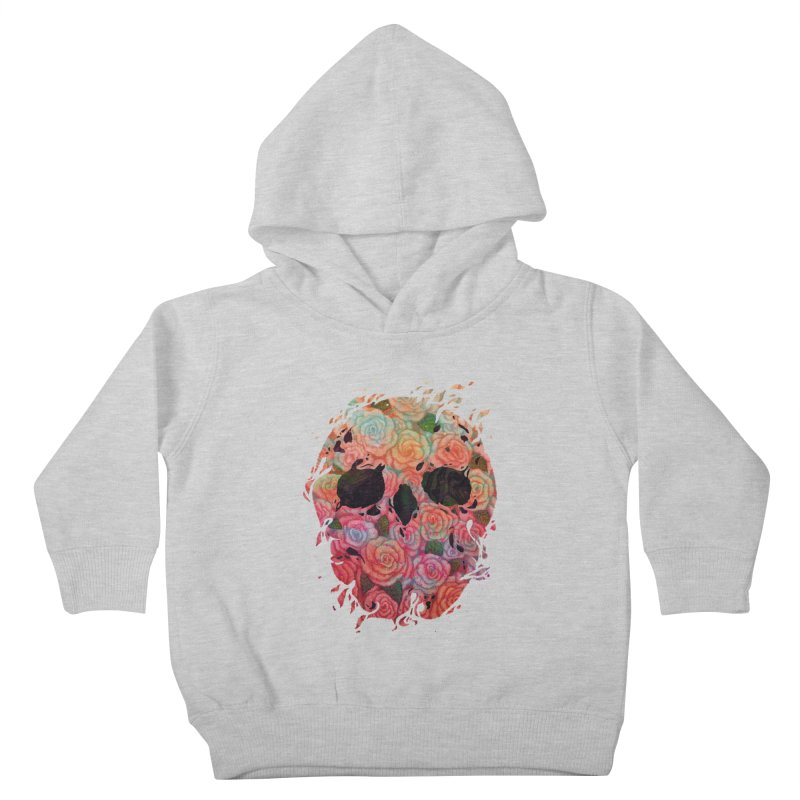 Skull Roses Kids Toddler Pullover Hoody by villainmazk's Artist Shop