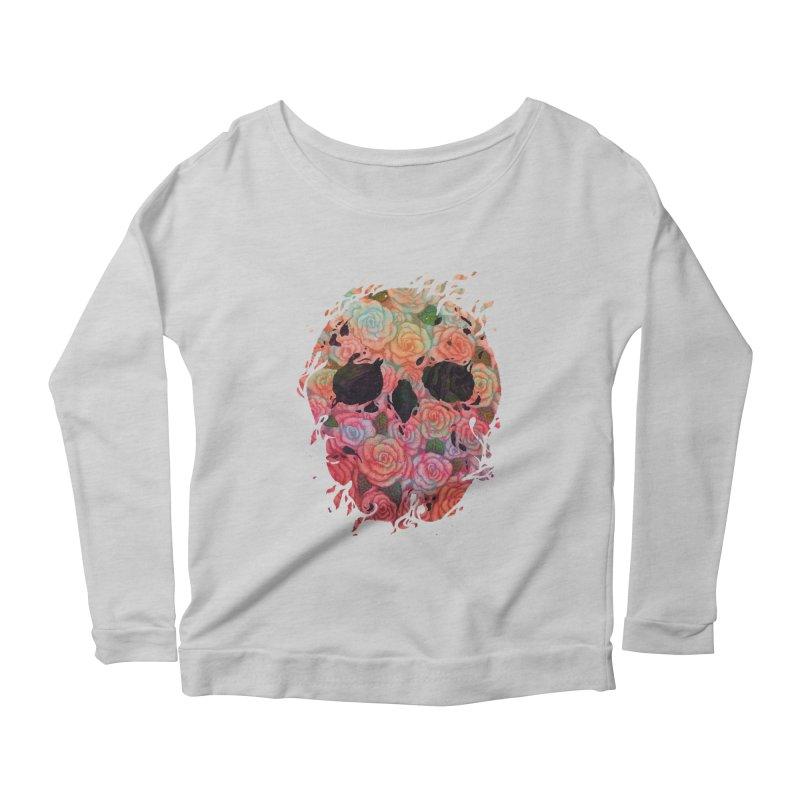 Skull Roses Women's Longsleeve Scoopneck  by villainmazk's Artist Shop