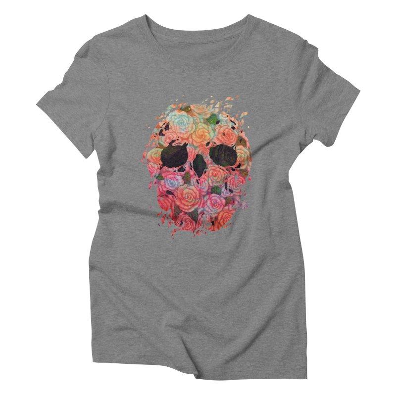 Skull Roses Women's Triblend T-Shirt by villainmazk's Artist Shop
