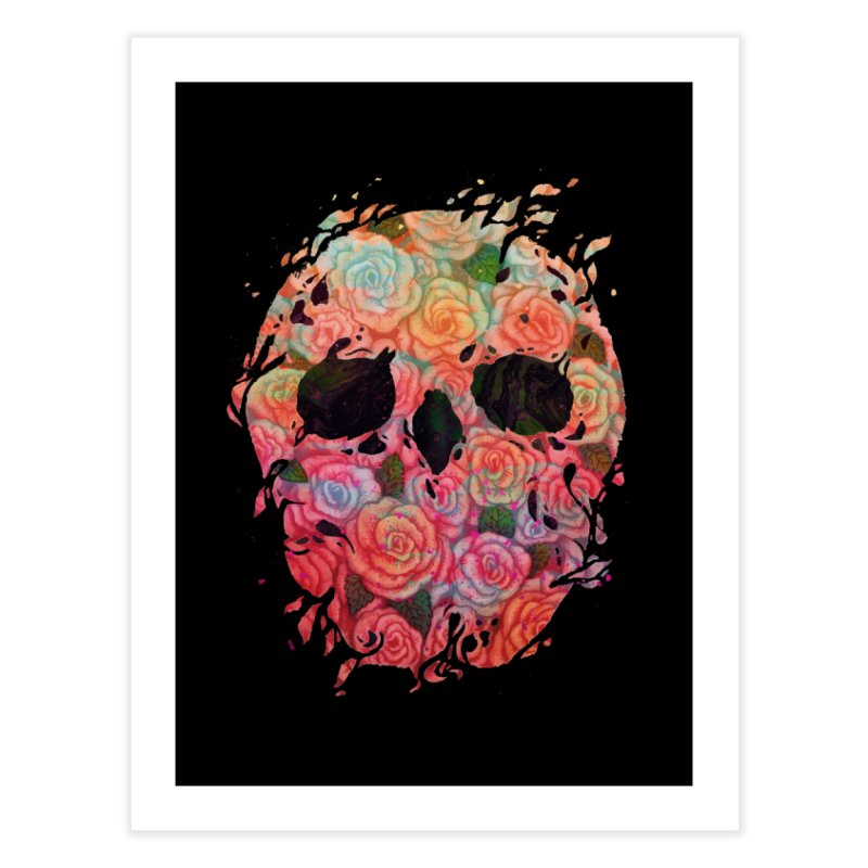 Skull Roses Home Fine Art Print by villainmazk's Artist Shop