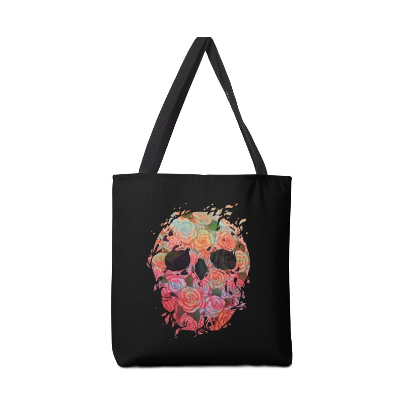 Skull Roses Accessories Tote Bag Bag by villainmazk's Artist Shop