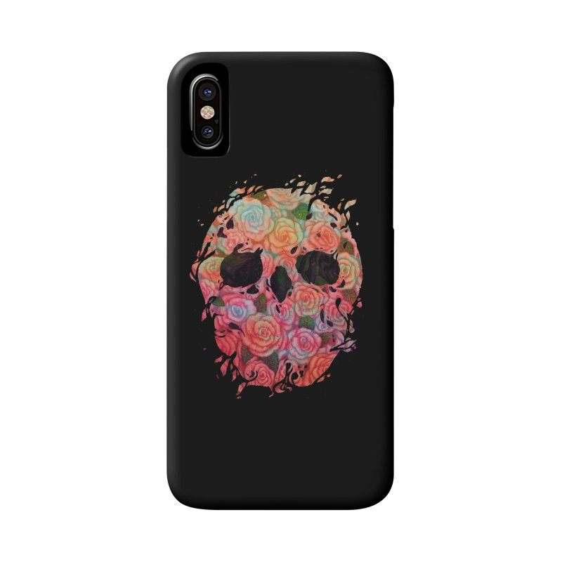 Skull Roses Accessories Phone Case by villainmazk's Artist Shop