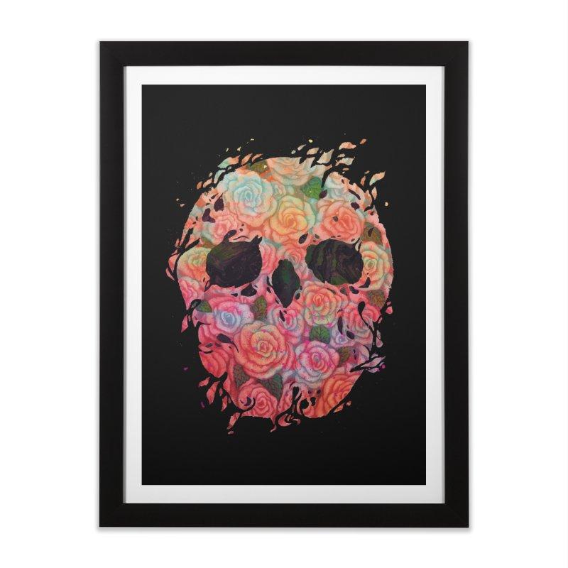 Skull Roses in Framed Fine Art Print Black by villainmazk's Artist Shop