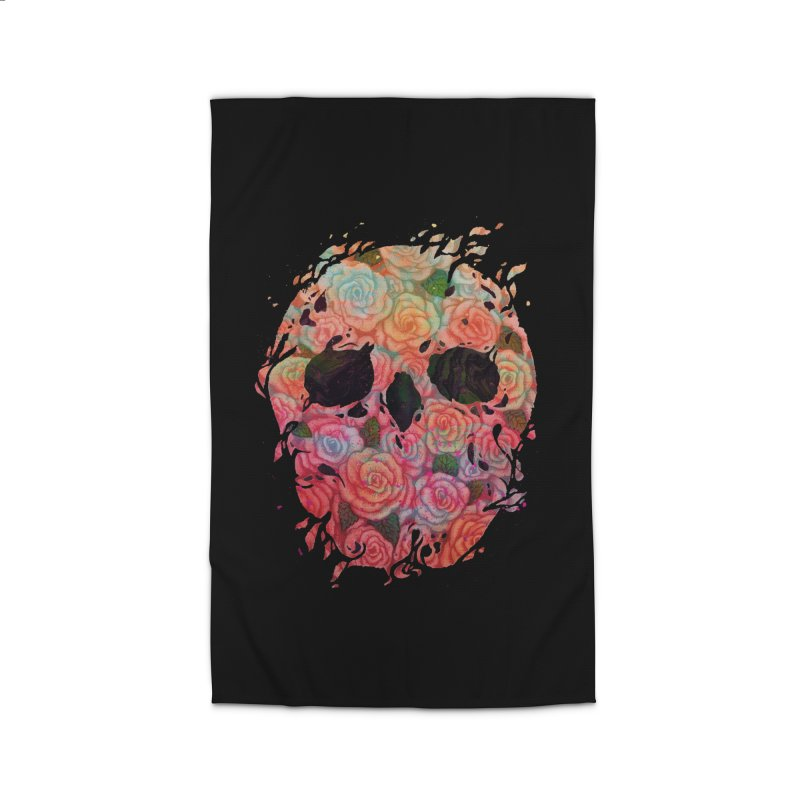 Skull Roses Home Rug by villainmazk's Artist Shop