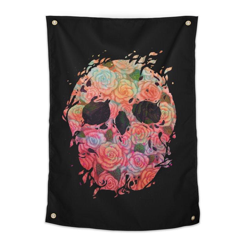 Skull Roses Home Tapestry by villainmazk's Artist Shop
