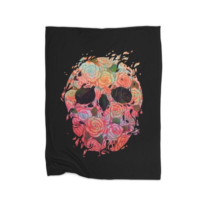 Skull Roses Home Blanket by villainmazk's Artist Shop