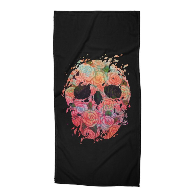 Skull Roses Accessories Beach Towel by villainmazk's Artist Shop