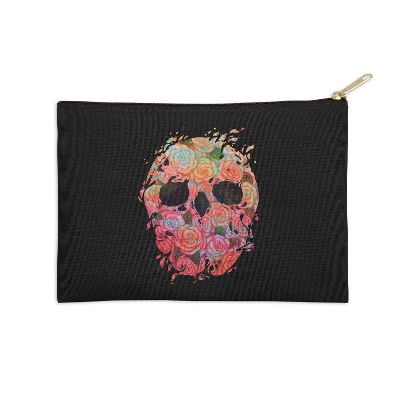 Skull Roses Accessories Zip Pouch by villainmazk's Artist Shop