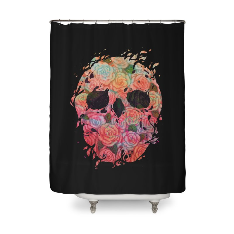 Skull Roses Home Shower Curtain by villainmazk's Artist Shop
