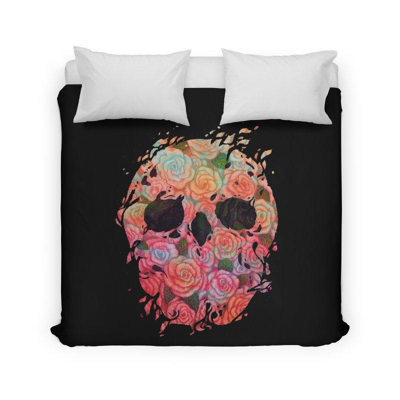Skull Roses Home Duvet by villainmazk's Artist Shop