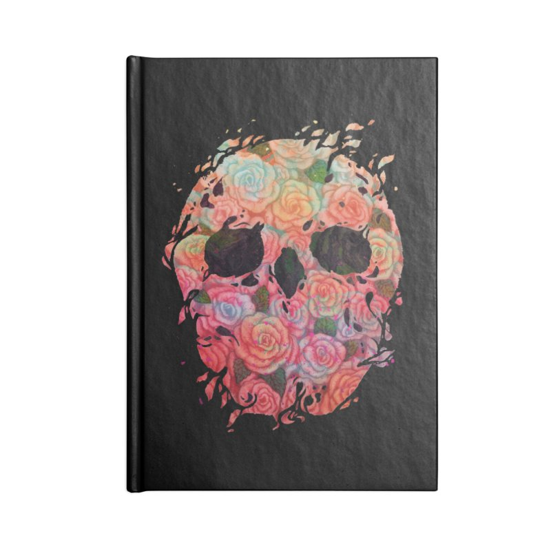 Skull Roses Accessories Notebook by villainmazk's Artist Shop