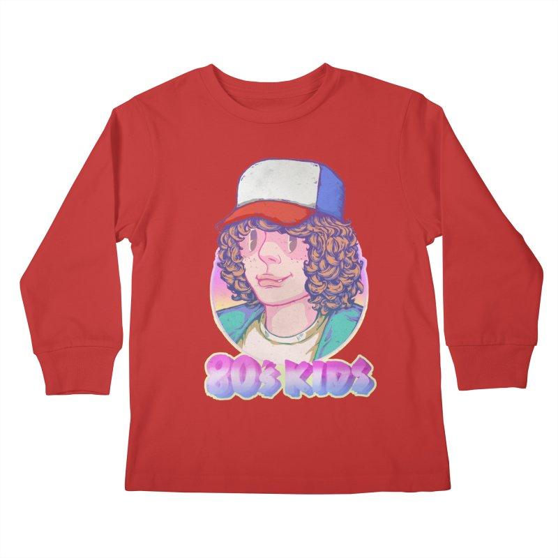 80's KIDS Kids Longsleeve T-Shirt by villainmazk's Artist Shop