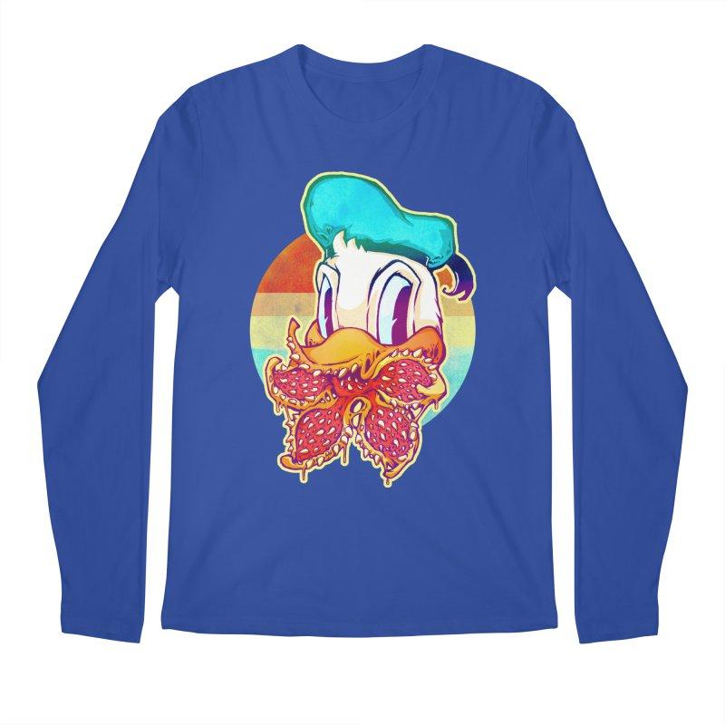 Upside down stranger Donald Men's Regular Longsleeve T-Shirt by villainmazk's Artist Shop