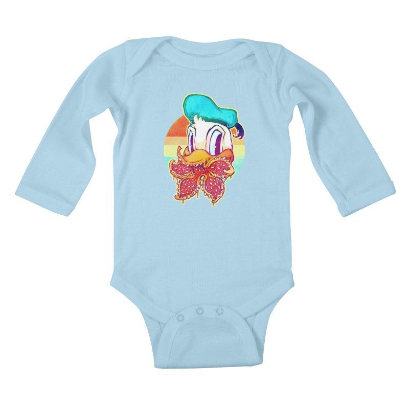 Upside down stranger Donald Kids Baby Longsleeve Bodysuit by villainmazk's Artist Shop