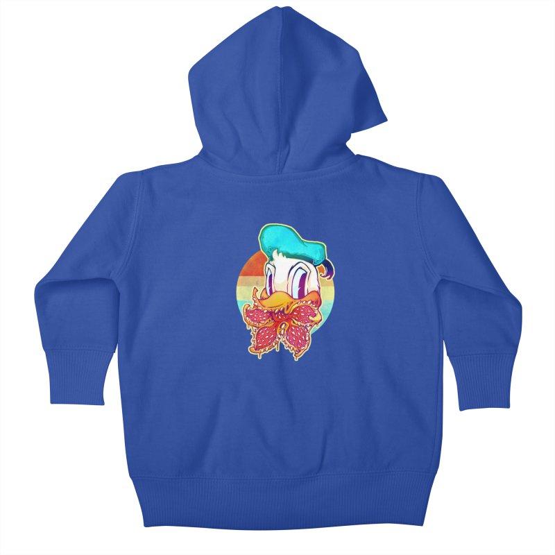 Upside down stranger Donald Kids Baby Zip-Up Hoody by villainmazk's Artist Shop
