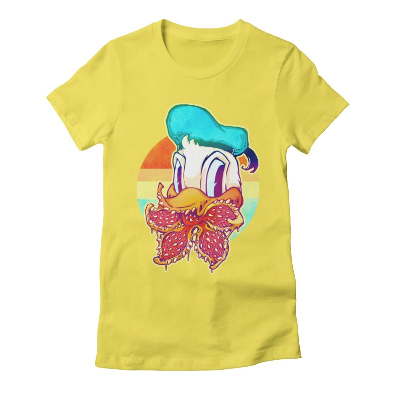 Upside down stranger Donald Women's Fitted T-Shirt by villainmazk's Artist Shop
