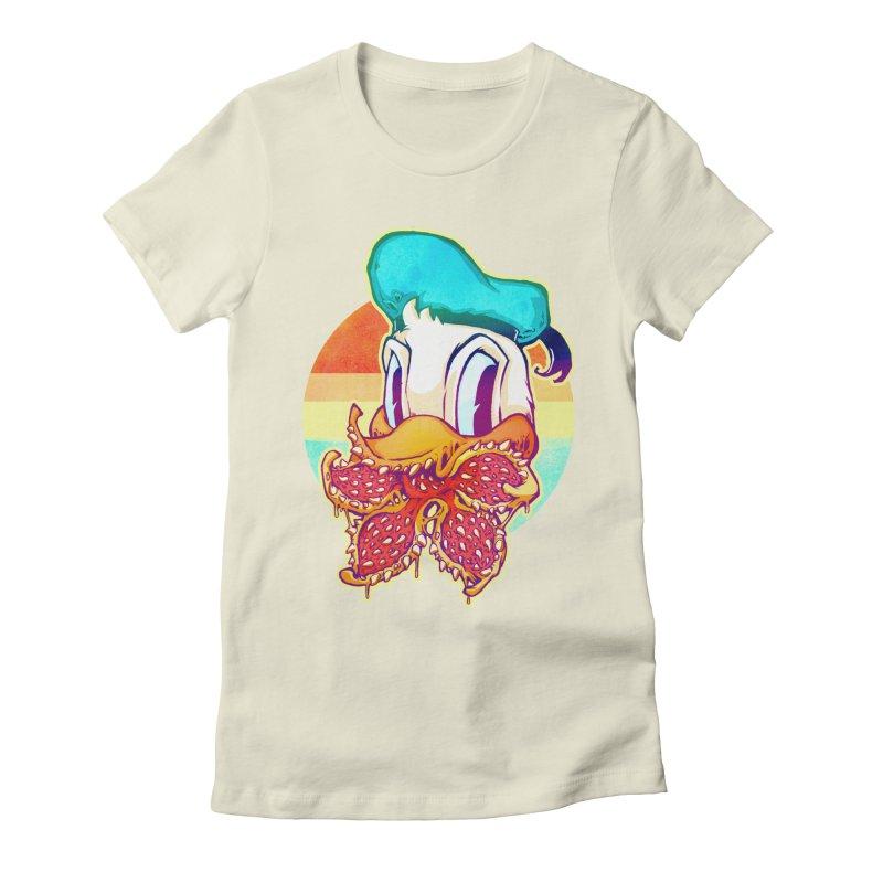 Upside down stranger Donald Women's Fitted T-Shirt by villainmazk's Artist Shop