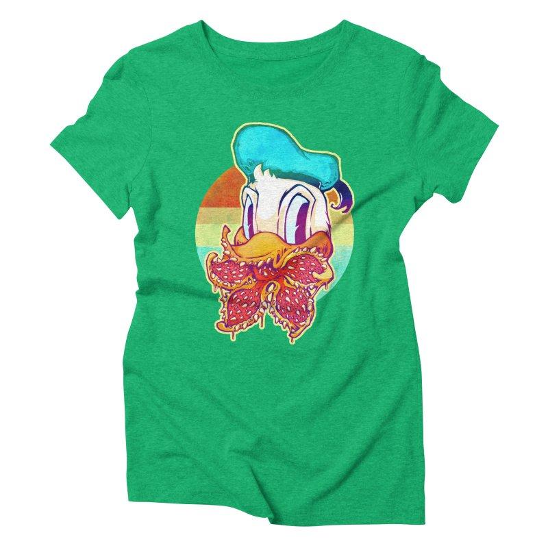 Upside down stranger Donald Women's Triblend T-Shirt by villainmazk's Artist Shop