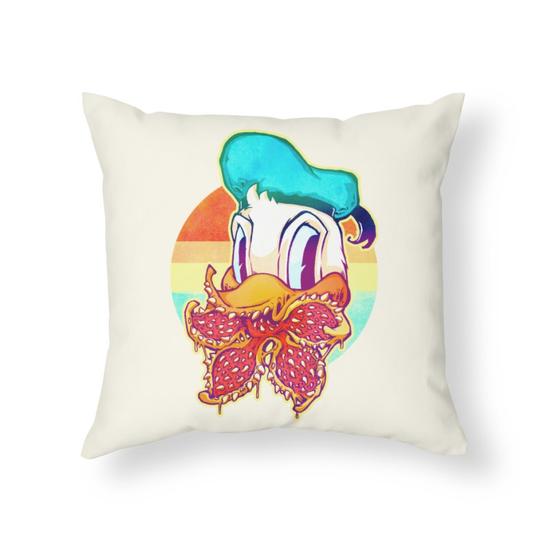 Upside down stranger Donald Home Throw Pillow by villainmazk's Artist Shop