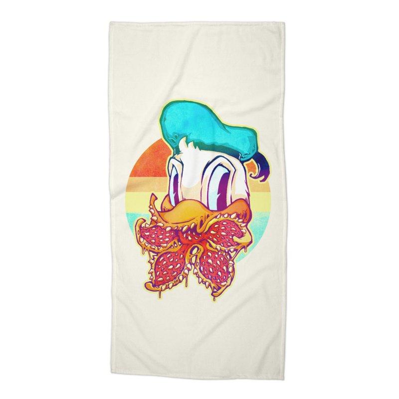 Upside down stranger Donald Accessories Beach Towel by villainmazk's Artist Shop