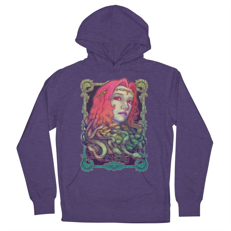 Medusa Devil Women's French Terry Pullover Hoody by villainmazk's Artist Shop