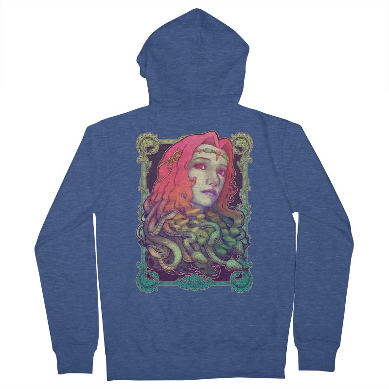 Medusa Devil Women's French Terry Zip-Up Hoody by villainmazk's Artist Shop