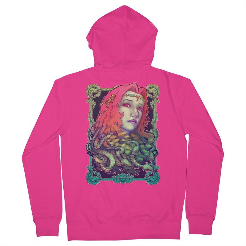 Medusa Devil Men's French Terry Zip-Up Hoody by villainmazk's Artist Shop