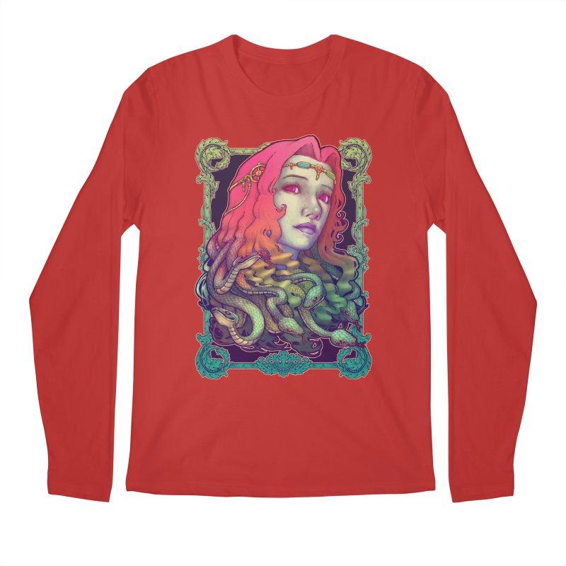 Medusa Devil Men's Regular Longsleeve T-Shirt by villainmazk's Artist Shop