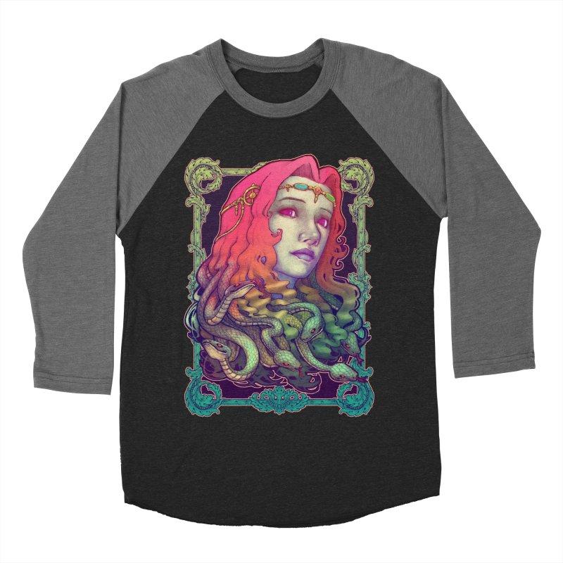 Medusa Devil Men's Baseball Triblend T-Shirt by villainmazk's Artist Shop