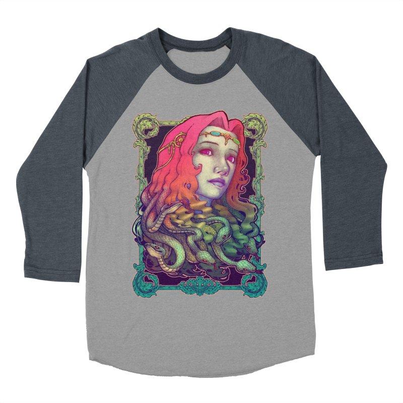 Medusa Devil Men's Baseball Triblend Longsleeve T-Shirt by villainmazk's Artist Shop