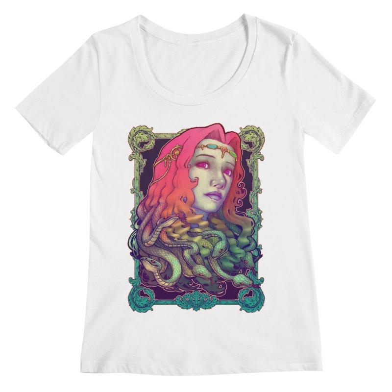Medusa Devil Women's Regular Scoop Neck by villainmazk's Artist Shop